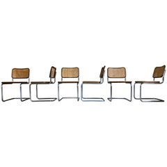 "Marcel Breuer B32 ""Cesca"" Dining Chairs for Knoll, 1972, Set of 6"