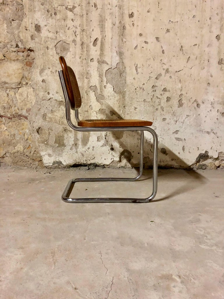 Marcel Breuer Bauhaus B32 Cesca Dining Room Chairs for Knoll, 1970s, Set of 8 For Sale 3