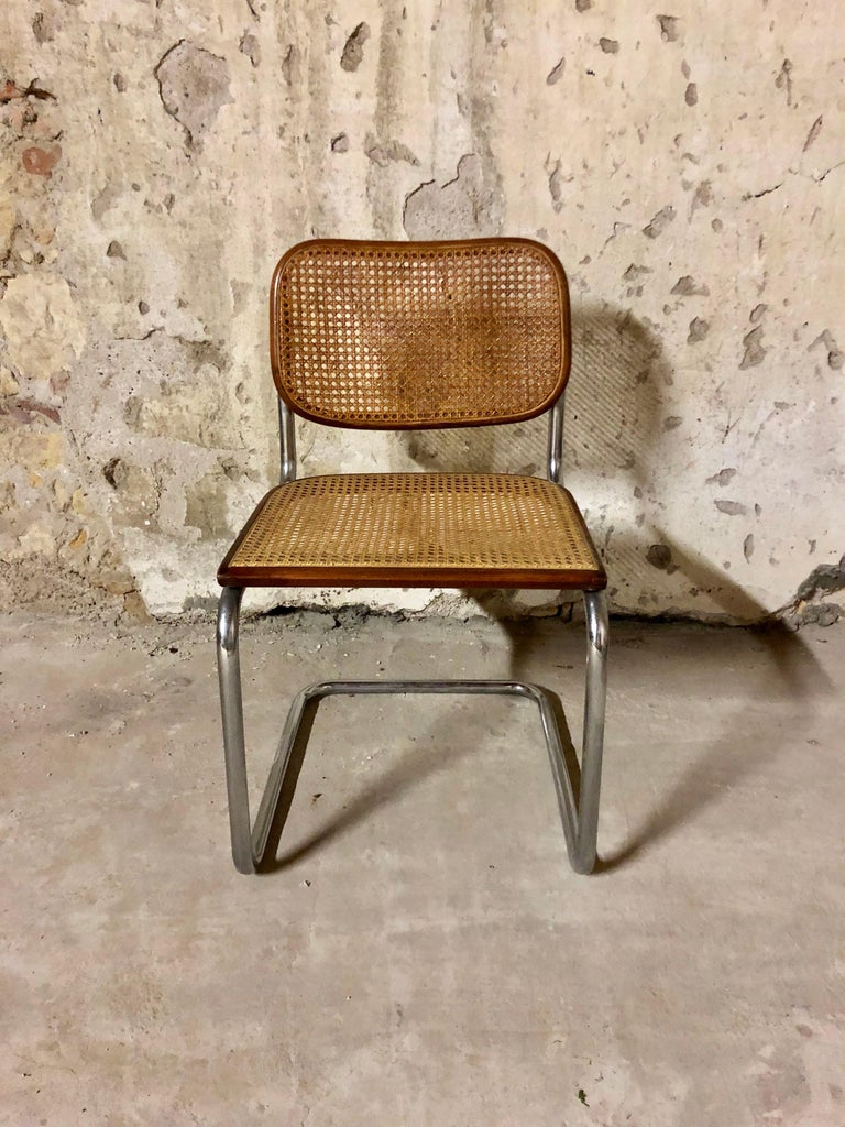 Marcel Breuer Bauhaus B32 Cesca Dining Room Chairs for Knoll, 1970s, Set of 8 For Sale 4