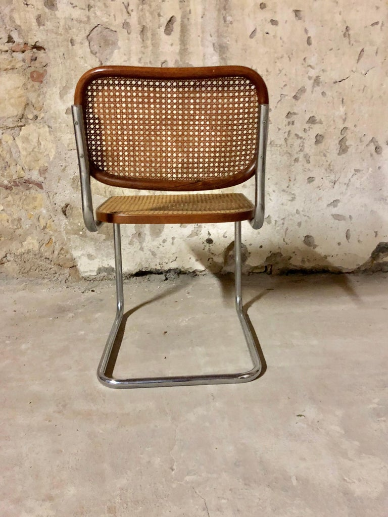 Marcel Breuer Bauhaus B32 Cesca Dining Room Chairs for Knoll, 1970s, Set of 8 For Sale 5