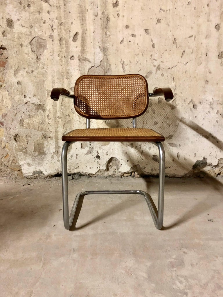 Marcel Breuer Bauhaus B32 Cesca Dining Room Chairs for Knoll, 1970s, Set of 8 For Sale 6
