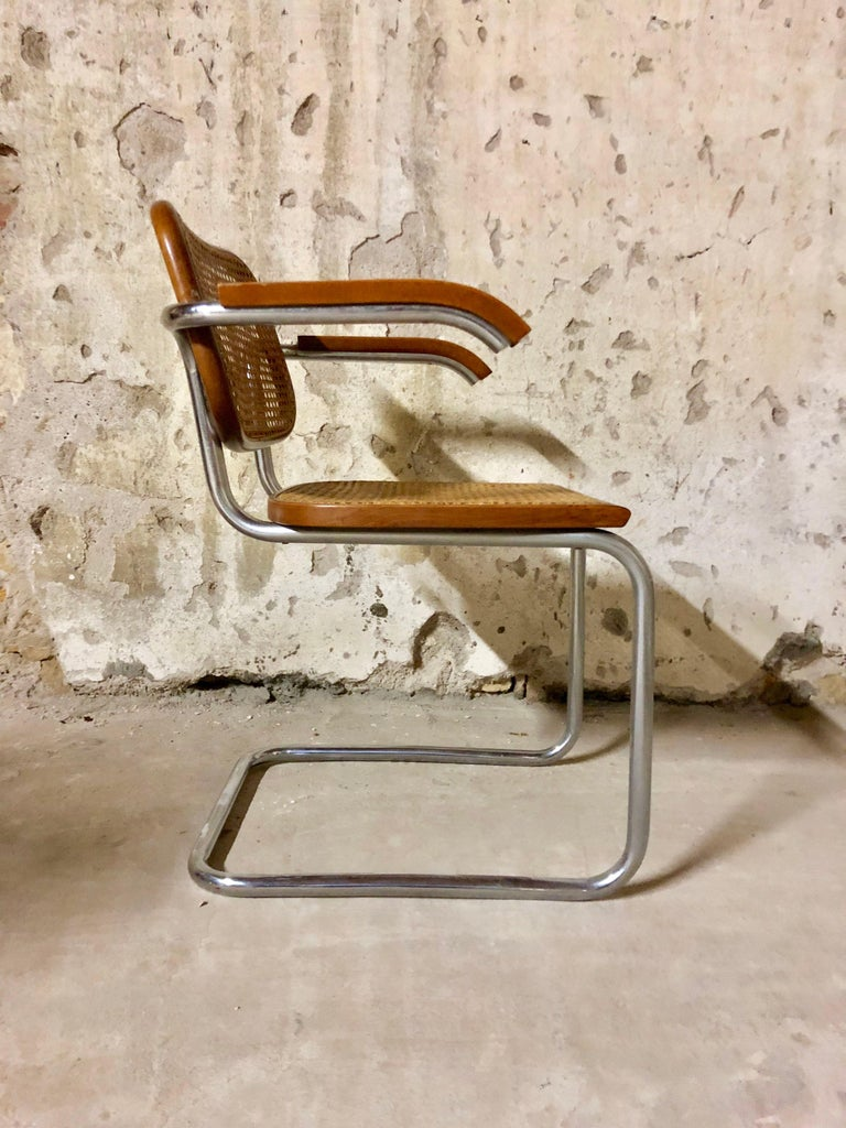 Marcel Breuer Bauhaus B32 Cesca Dining Room Chairs for Knoll, 1970s, Set of 8 For Sale 7
