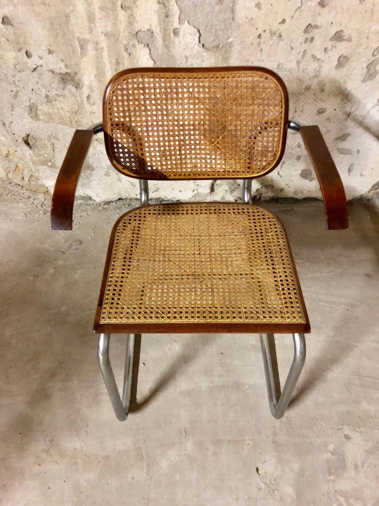 Marcel Breuer Bauhaus B32 Cesca Dining Room Chairs for Knoll, 1970s, Set of 8 For Sale 8