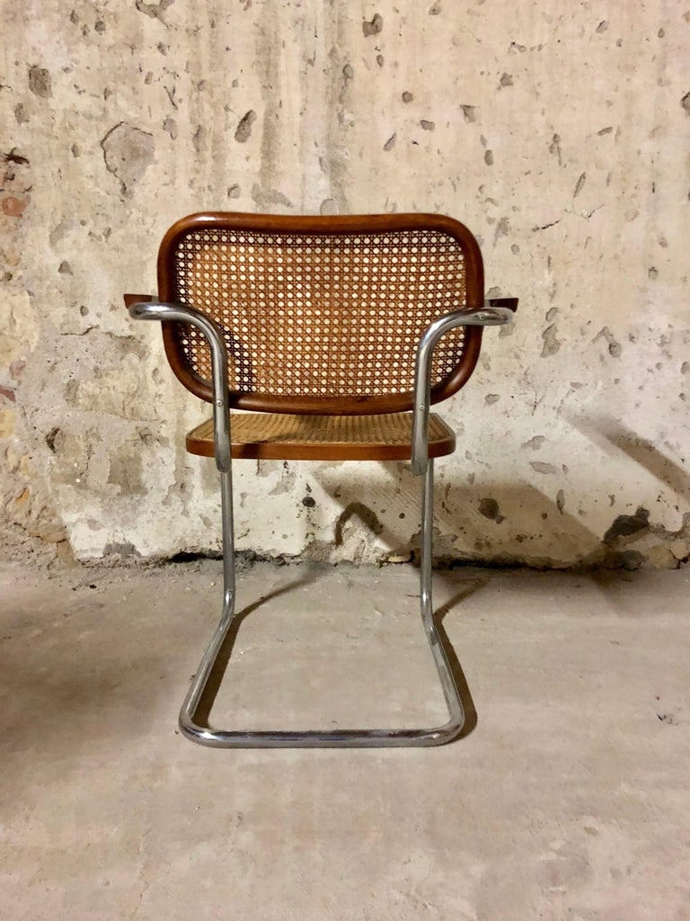 Marcel Breuer Bauhaus B32 Cesca Dining Room Chairs for Knoll, 1970s, Set of 8 For Sale 9