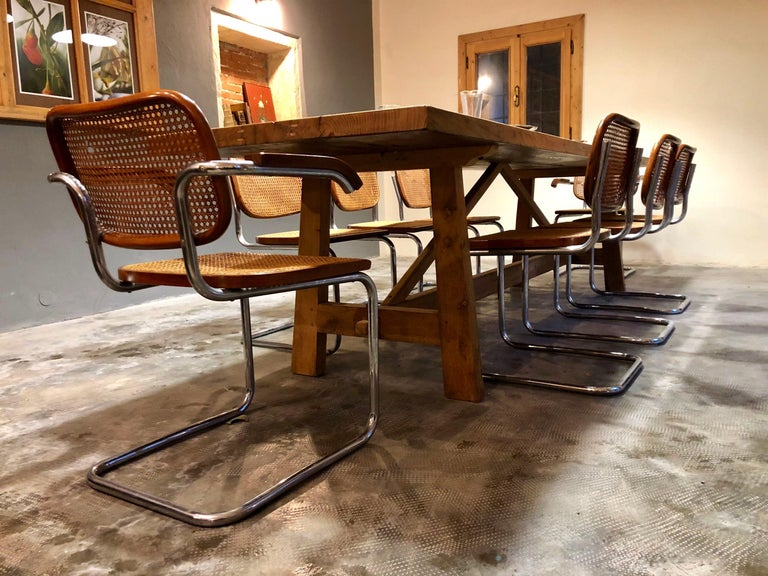 Marcel Breuer Bauhaus B32 Cesca Dining Room Chairs for Knoll, 1970s, Set of 8 For Sale 10