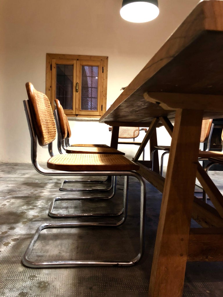 Marcel Breuer Bauhaus B32 Cesca Dining Room Chairs for Knoll, 1970s, Set of 8 For Sale 12
