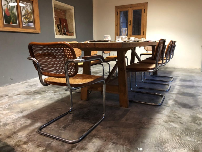 Marcel Breuer Bauhaus B32 Cesca Dining Room Chairs for Knoll, 1970s, Set of 8 For Sale 13