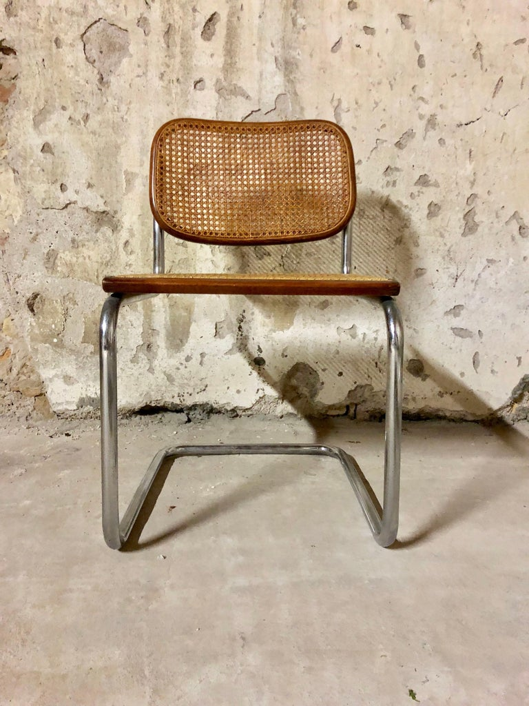 Marcel Breuer Bauhaus B32 Cesca Dining Room Chairs for Knoll, 1970s, Set of 8 For Sale 1