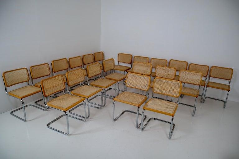 Marcel Breuer Bauhaus Cesca Dining Room Chairs, 1970s, Set of 24 5