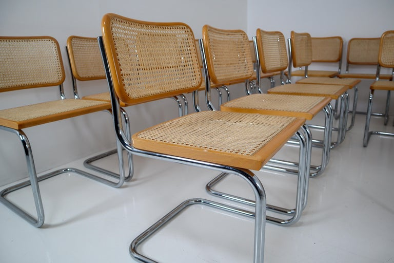 Marcel Breuer Bauhaus Cesca Dining Room Chairs, 1970s, Set of 24 6