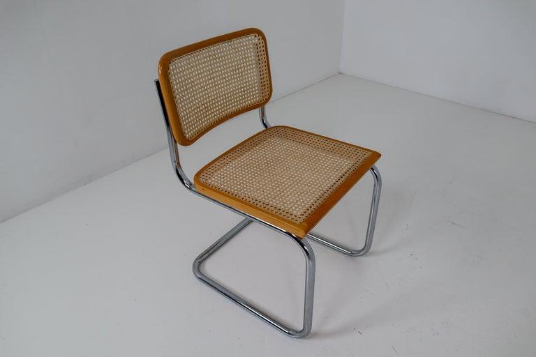 Wicker Marcel Breuer Bauhaus Cesca Dining Room Chairs, 1970s, Set of 24