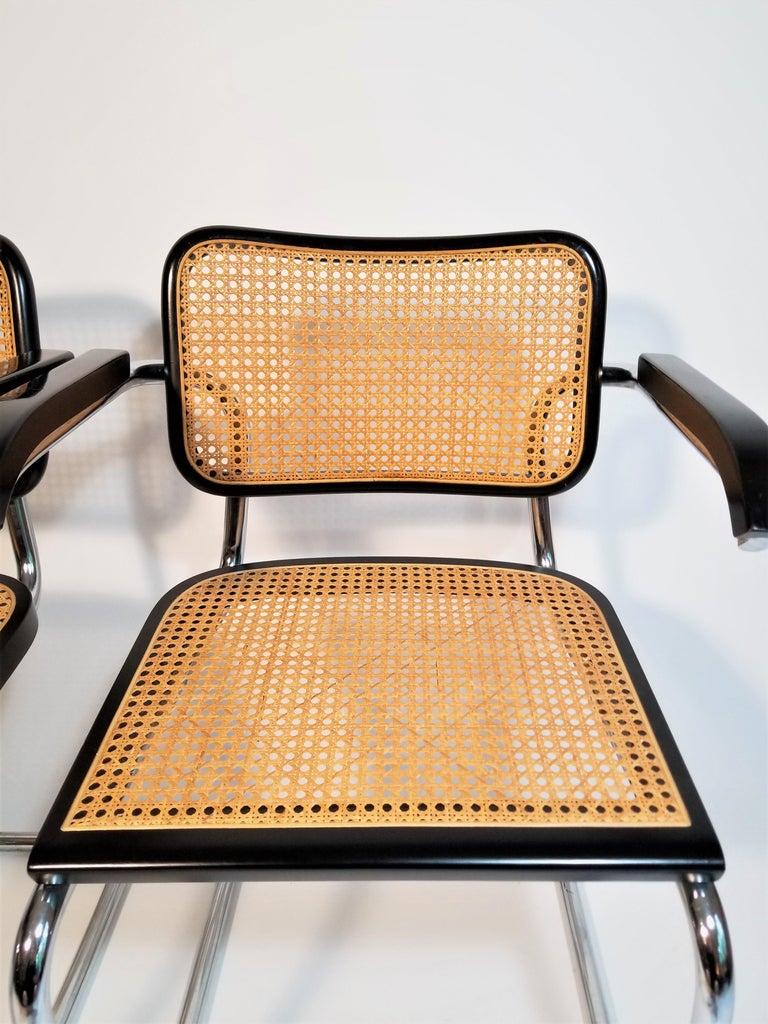 Marcel Breuer Black Cesca Armchairs Set of 8 For Sale at ...