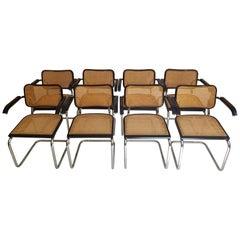 Marcel Breuer Black Cesca Armchairs Set of 8