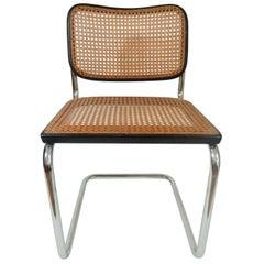 Marcel Breuer Black Cesca Knoll Gavina Hand Caned Cane Chair