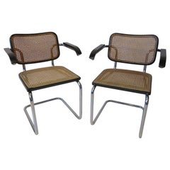 Marcel Breuer Cesca Armchairs by Stendig, Italy