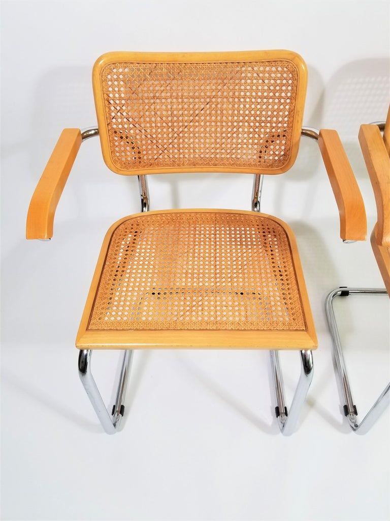 Marcel Breuer Cesca Armchairs Midcentury In Good Condition In New York, NY
