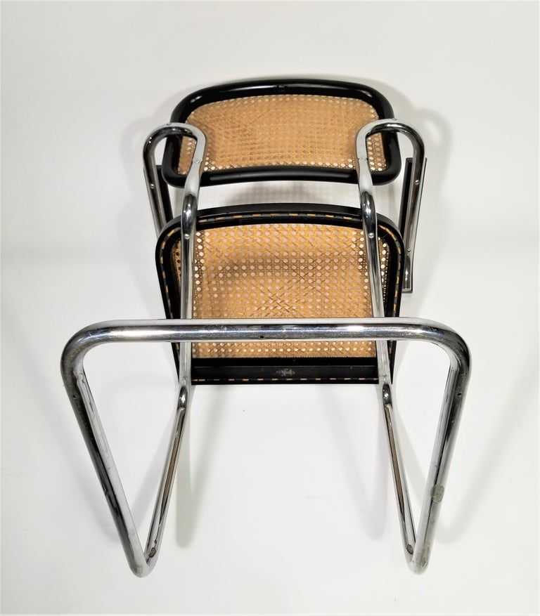 Marcel Breuer Cesca Black Armchair by Stendig Midcentury 1960s Hand Caned 10