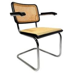 Marcel Breuer Cesca Black Armchair by Thonet, 1960s
