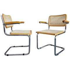 Marcel Breuer Cesca Chair, a Pair