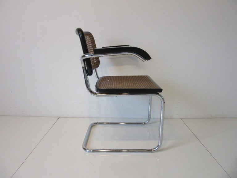 International Style Marcel Breuer Cesca Dining Armchairs Made in Italy For Sale
