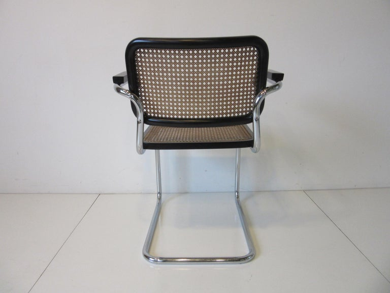 Italian Marcel Breuer Cesca Dining Armchairs Made in Italy For Sale