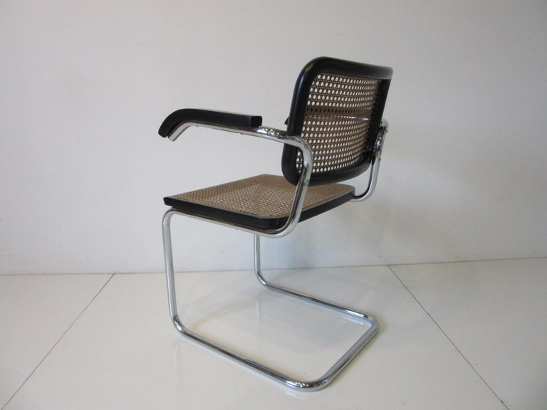 Marcel Breuer Cesca Dining Armchairs Made in Italy In Good Condition For Sale In Cincinnati, OH