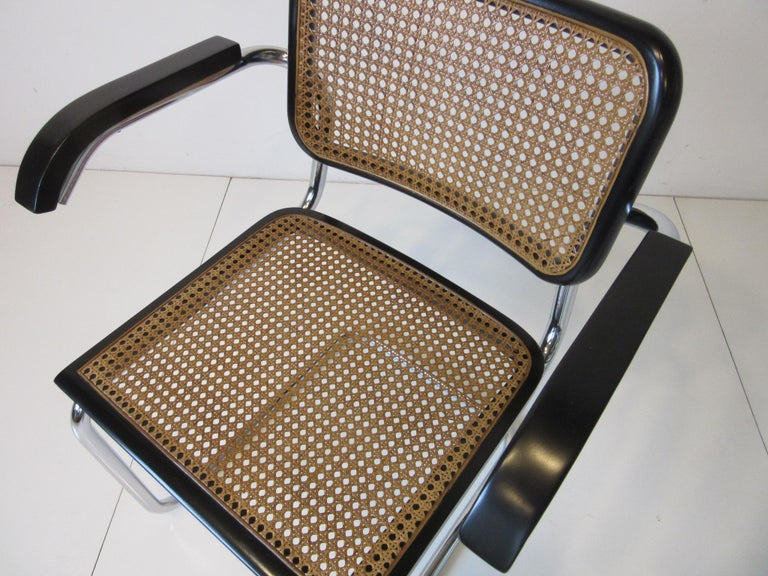 20th Century Marcel Breuer Cesca Dining Armchairs Made in Italy For Sale
