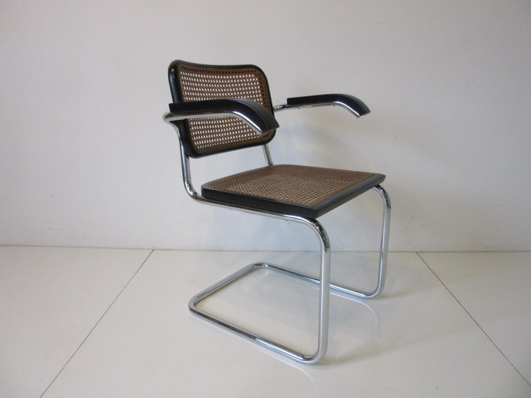 Marcel Breuer Cesca Dining Armchairs Made in Italy For Sale 2