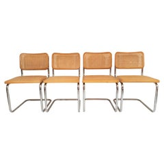 Marcel Breuer Cesca Italy Dining Chairs Midcentury Set of 4
