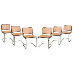 Marcel Breuer Cesca Chairs for Gavina Production 1960s, Set of 6 Chairs