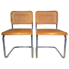 Marcel Breuer Cesca Pair of Midcentury Side Chairs