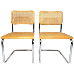 Marcel Breuer Cesca Pair of Side Chairs Midcentury