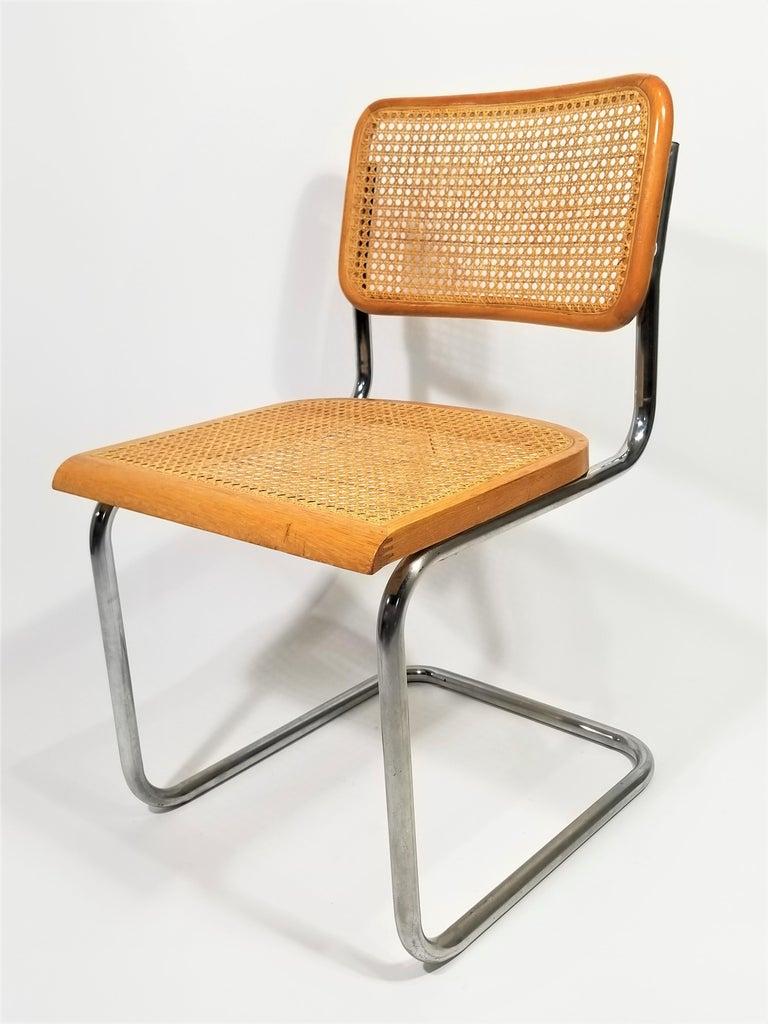 Mid-Century Modern Marcel Breuer Cesca Side Chair, 1970s For Sale