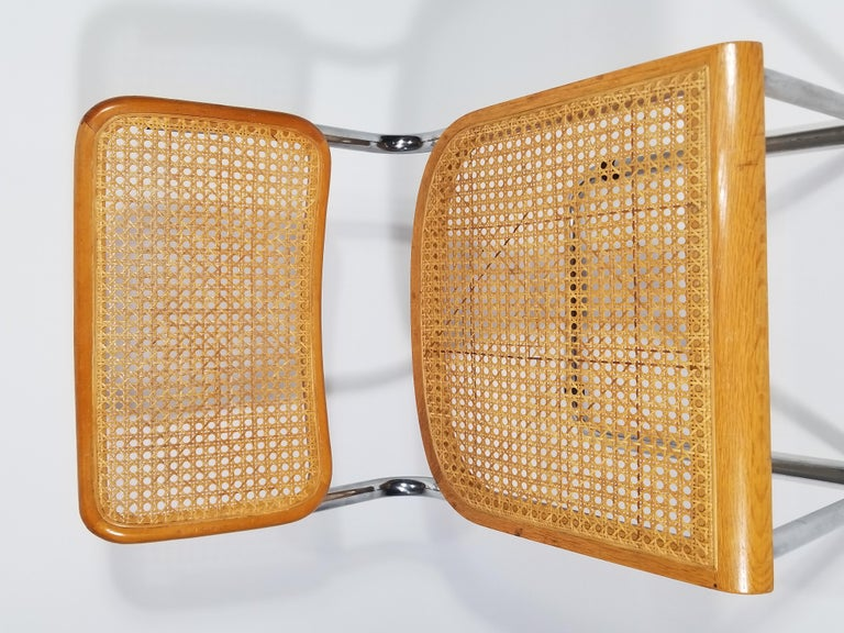 Marcel Breuer Cesca Side Chair, 1970s In Good Condition For Sale In New York, NY