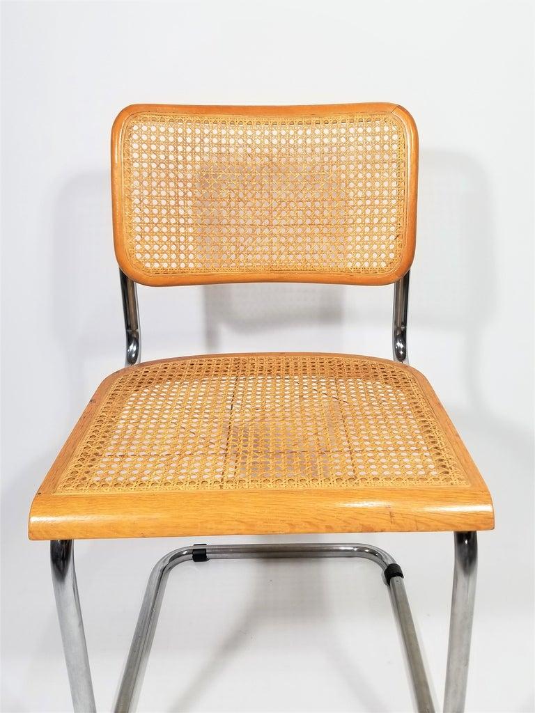 20th Century Marcel Breuer Cesca Side Chair, 1970s For Sale