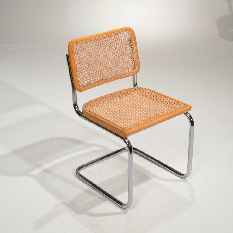 Italian Marcel Breuer Cesca Side Chairs For Sale