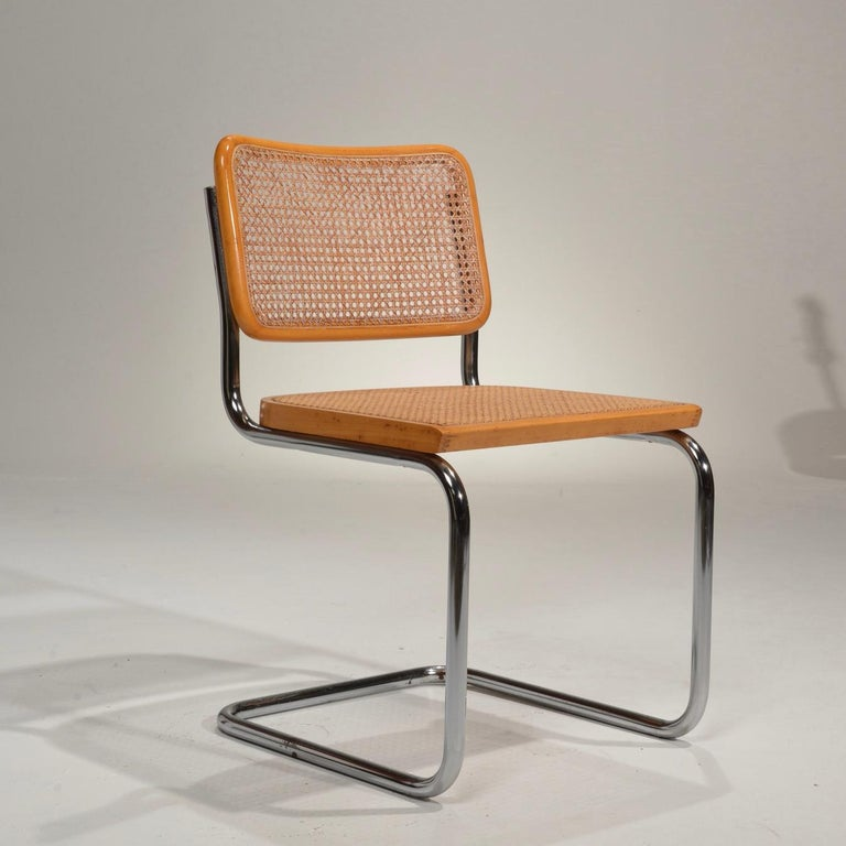 Marcel Breuer Cesca Side Chairs In Good Condition For Sale In Los Angeles, CA