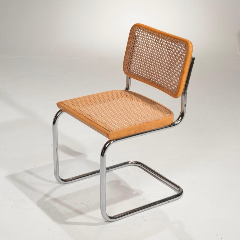 Cane Marcel Breuer Cesca Side Chairs For Sale