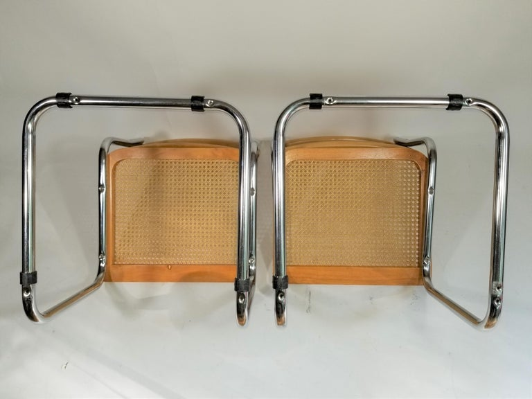 Marcel Breuer Cesca Side Chairs Midcentury Set of 2 For Sale 9