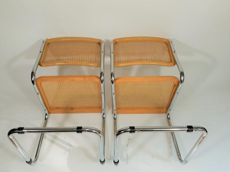 Marcel Breuer Cesca Side Chairs Midcentury Set of 2 For Sale 10