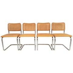 Marcel Breuer Cesca Side Chairs Midcentury Set of 4