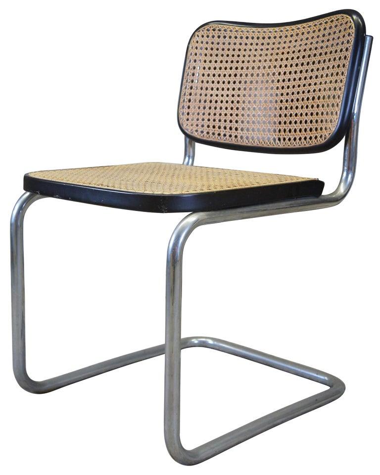 Mid-Century Modern Marcel Breuer Cesca Stendig Mid Century Italian Caned Chrome Side Chair Thonet For Sale