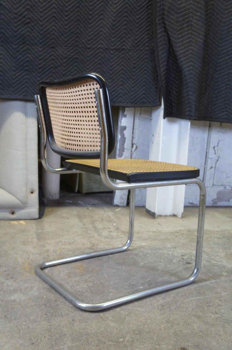 Marcel Breuer Cesca Stendig Mid Century Italian Caned Chrome Side Chair Thonet For Sale 1
