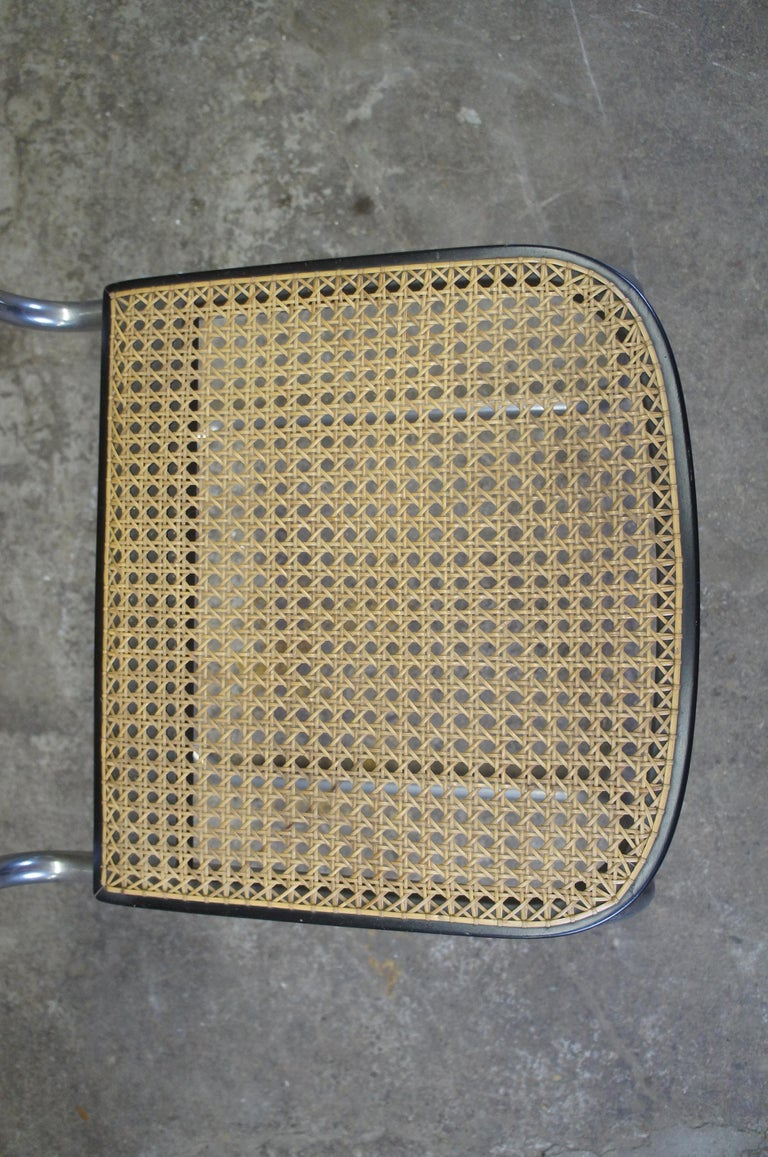 Marcel Breuer Cesca Stendig Mid Century Italian Caned Chrome Side Chair Thonet For Sale 2