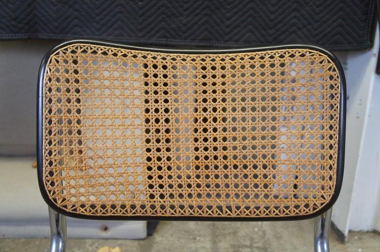Marcel Breuer Cesca Stendig Mid Century Italian Caned Chrome Side Chair Thonet For Sale 3