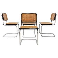 Marcel Breuer Chairs Model Cesca B32 Edition Thonet 1970 Set of 4
