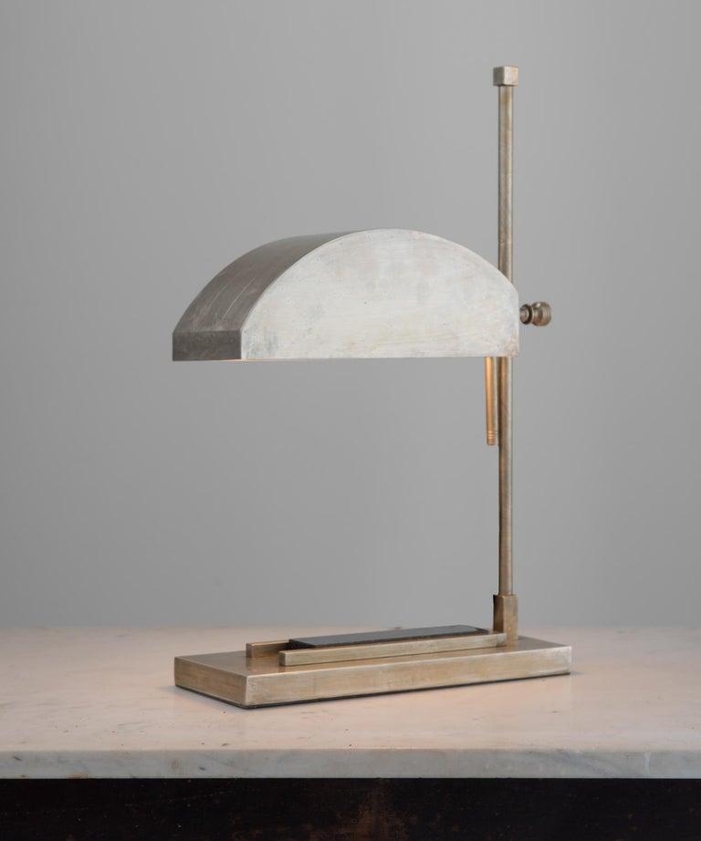 Plated Marcel Breuer Desk Lamp, Germany, circa 1925 For Sale