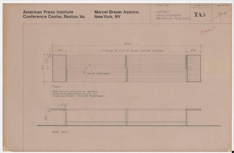 Marcel Breuer Dining or Conference Table for API, 1979 5