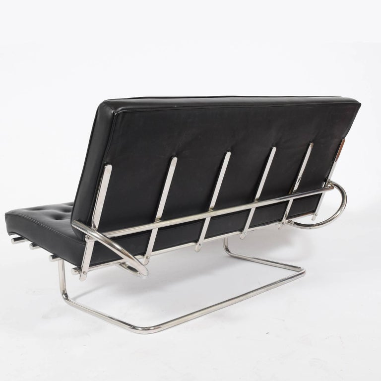 German Marcel Breuer F40 Cantilever Settee For Sale