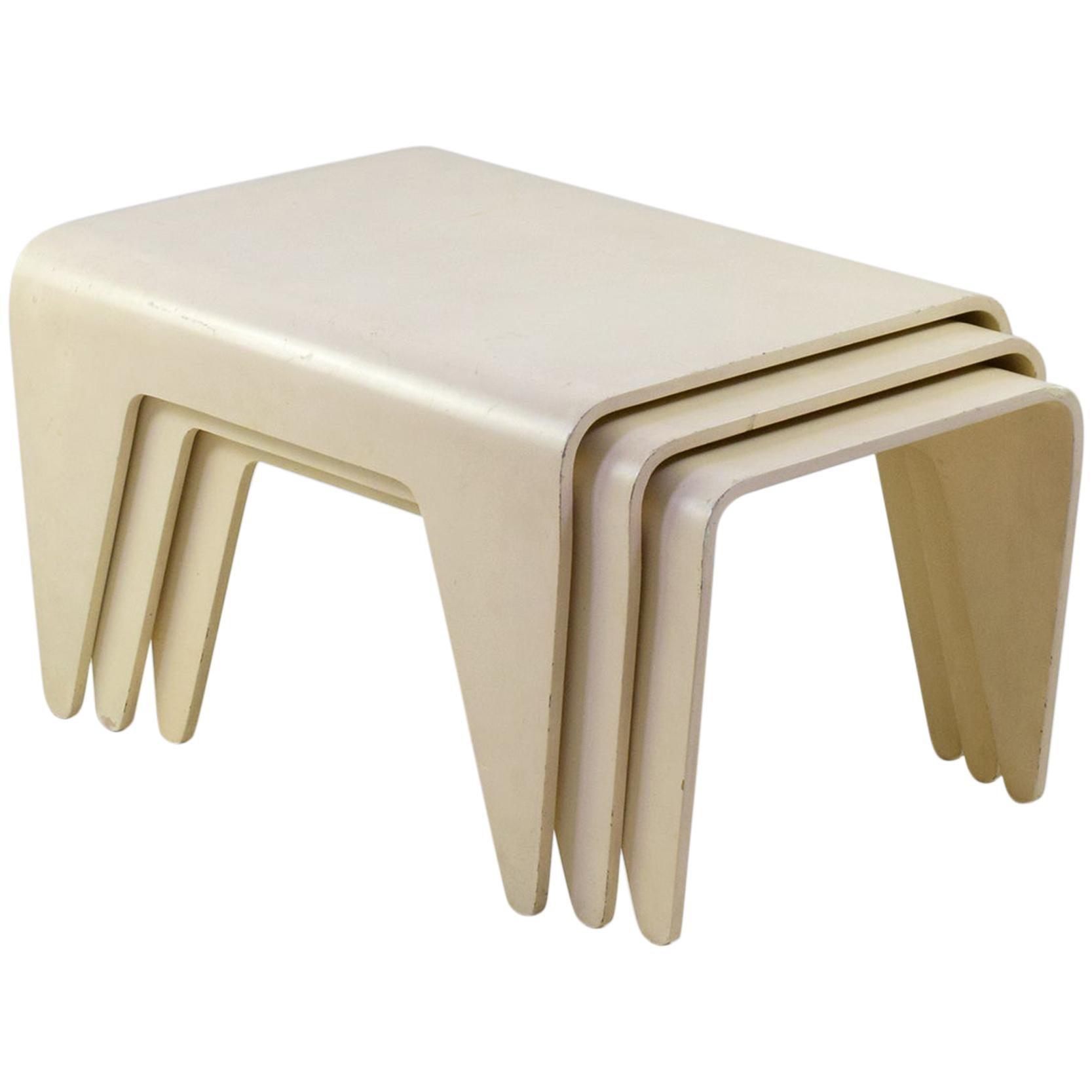 Marcel Breuer, 'Isokon Nesting Tables,' Set of Three Tables, for Isokon, 1936